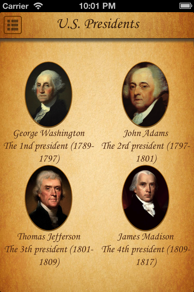Screenshot U.S. Presidents Quotes & Sayings